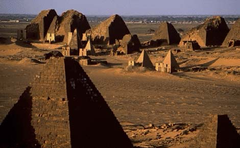 pyramides de Meroe